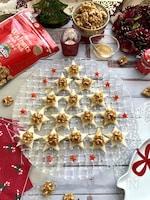 クリスマスにぴったり!生クルミを使って星形クルミカナッペ
