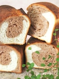 模様を楽しむココア食パン♪