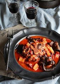 『高圧力鍋なら超簡単 オックステールのワイントマト煮込』