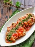 レンジで簡単!鶏肉のスタミナトマト煮