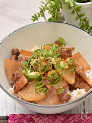 【サク飯】カリカリ豚肉と大根の角煮風丼