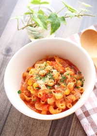 『朝パスタに推奨!トマトチーズのパスタ』