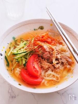 焼肉屋さんの味!『冷麺風そうめん』暑い日の昼はコレ!