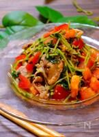 【夏に食べたいお手軽サラダ!!】トマトと豆苗の豚しゃぶサラダ