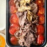 さっぱりトマトすき焼き