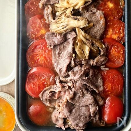 トマト すき焼き レシピ