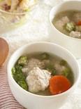 とろ~り温まる。鶏とれんこんのお団子入りスープ