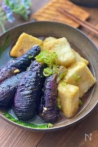 茄子と豆腐の揚げ出し【カリッとジュワ旨です】