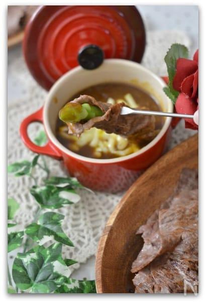 チーズフォンデュ風のカレー鍋