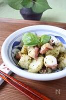 タコと長芋のジェノベーゼ炒め