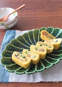 『簡単アレンジ卵焼き♪お弁当にも◎にんじんと小松菜のだし巻き卵』