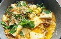 5分で簡単節約満足おかず!豆腐とえのきのおかか卵とじ