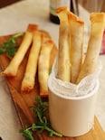 里芋とチーズのスティック春巻き