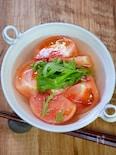 湯むきで美味さ倍増「ひんやりだしトマト」