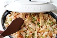<BRUNO>香ばし♪焼きたけのこと鮭の炊き込みご飯。