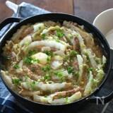 ごま味噌バターのミルフィーユ鍋