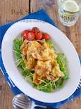めっちゃ簡単!『カリカリ豚バラと豆苗のレモン醤油サラダ』