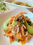 レン・チン・作り置き☆えのきとチンゲン菜とにんじんのナムル