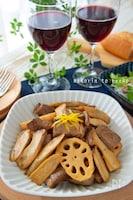 牛肉とれんこん・ごぼうの柚子胡椒マリネ