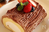 市販のロールケーキで作る!ブッシュドノエル