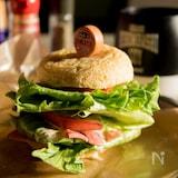 大きながんもどきでBLTハンバーガー【低糖質】
