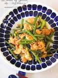 にんにくの芽と卵の中華炒め。
