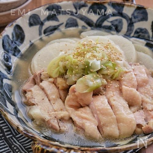 レンジで出来ちゃう!*大根と鶏肉の旨塩煮*無水調理