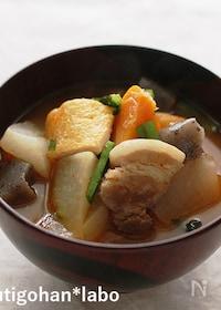『圧力鍋で!具だくさんのピリ辛キムチ豚汁』