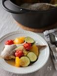 夏野菜と鯛の和風アクアパッツァ