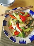 ご飯がすすむ。鶏むね肉ときゅうりの大葉生姜醤油炒め
