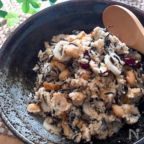 栄養たっぷりでウマウマ♡卯の花煮物のような生おからのサラダ