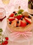 赤い実のシャルロットケーキ