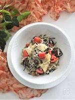 筍とひじきの押し麦サラダ
