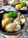 ふふおつまみ♡【牡蠣とポテトのちょっとだけアヒージョ】