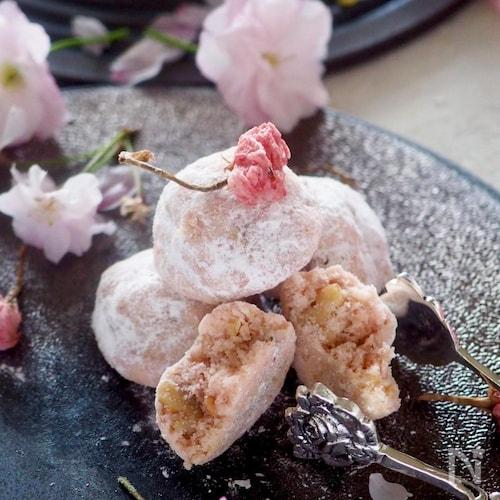 ♡桜のほろほろクッキー♡混ぜて丸めて焼くだけ‼︎