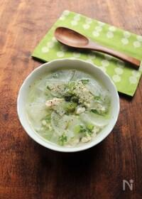 『じんわり美味しい☆鶏ひき肉と大根のスープ』