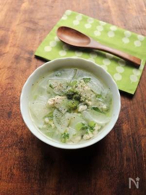 じんわり美味しい☆鶏ひき肉と大根のスープ