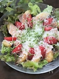 桃と生ハムとトマトのサラダ