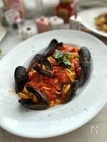 ワールドパスタデーにとびっきりのムール貝のスパゲッティ
