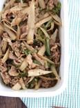 作り置き。牛肉とごぼうのしぐれ煮