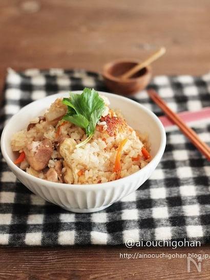 鶏肉と里芋の炊き込みご飯