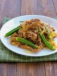 オクラとラムのカレー風味スタミナ炒め(牛肉でもOK)