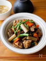 『ご飯に合う♫甘辛鶏ごぼう煮』#簡単和食#味しみ