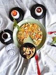 きのこと根菜満載スペイン風オムレツ   バルサミコソース添