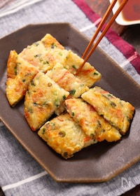 『カニかま豆腐のもちもちお焼き【#簡単#ヘルシー#おつまみ】』