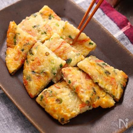 カニカマ豆腐のもちもちお焼き【#簡単#ヘルシー#おつまみ】