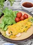 豆苗ともやし入りのベトナム風お好み焼き