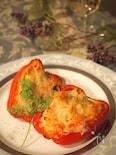 ポテトサラダのパプリカチーズ焼き