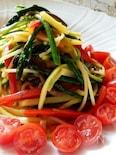 7種類の野菜で昆布つゆ風味の大盛りパスタ