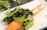 銀鮭と小松菜のうま味炒め